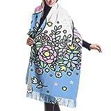 Bufanda de invierno unisex clásica de cachemira, diseño de papel tapiz de colores de unicornios Pañuelos largos y cálidos Bufanda de abrigo chal