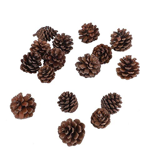 Wifehelper 16Pcs Natural Pine Cones Lightweight Ornament Christmas Tree Thanksgiving Wreath Party Wall Door Hanging Winter Decoration