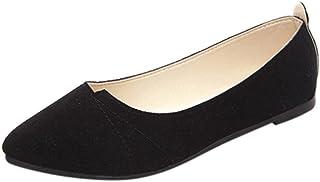 a772c09d805c62 OverDose Ballerines Chaussures Plats Suédine, Femme Mocassins Pointure  Casual Soft Slip-On Shoes