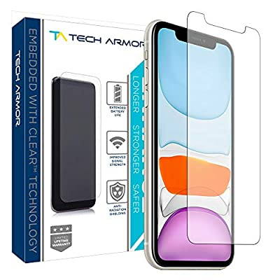 Tech Armor Enhance Radiation Blocking Screen Protector for New 2019 Apple iPhone 11 / iPhone Xr - Blocks Harmful Radiation, Improves Battery Life and Cell Signal - [1-Pack] from Tech Armor