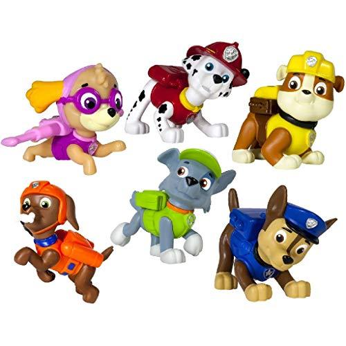PAW PATROL Mini Figures - Figuras de Juguete para niños (Multi, Niño/niña, Dibujos Animados