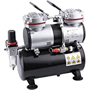 Fengda FD-196 Airbrush Mini Compressor with 3,5L Air Tank / 6 Bar / Auto Stop