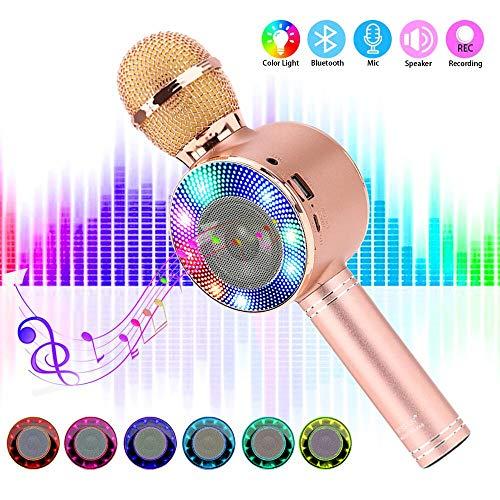 SaponinTree Micrófono Karaoke Bluetooth, 4 en1 Microfono Inalámbrico...