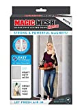 Magic Mesh Deluxe- White- Hands Free Magnetic Screen Door, Mesh Curtain Keeps Bugs Out, Frame Hook & Loop, Hands Free, Pet & Kid Friendly- Fits Doors up to 39 x 83 Inches