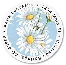 Daisy Collage Round Return Address Labels - Set of 144 1-1/2 diameter Self-Adhesive, Flat-Sheet labels