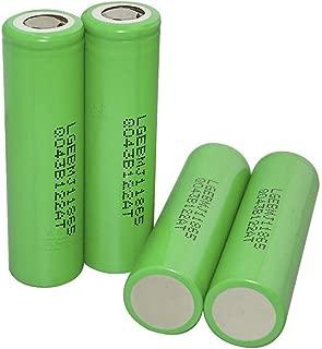 JinJin 4pcs Rechargeable Batttery 3.7 v 3500mah Li ion Flashlight Battery for LED Flashlight Torch High-Capacity Battery (4 Pcs)