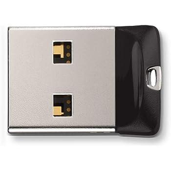 SanDisk SDCZ33-064G-G35 Cruzer Fit Unidad Flash USB 64 GB USB Tipo A 2.0 Negro, Plata - Memoria USB (64 GB, USB Tipo A, 2.0, Sin Tapa, Protección Mediante contraseña, Negro, Plata),