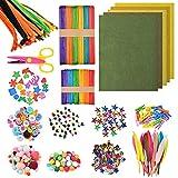 1000Pcs Kit de Manualidades para Niños TIMESETL Kits de Suministros para Manualidades Pipe Cleaners...