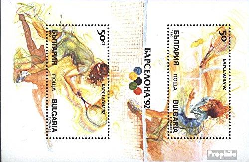 Prophila Collection Bulgaria Michel.-No..: Bloque 211a (Completa.edición.) 1990 Juegos olímpicos de Verano`92...