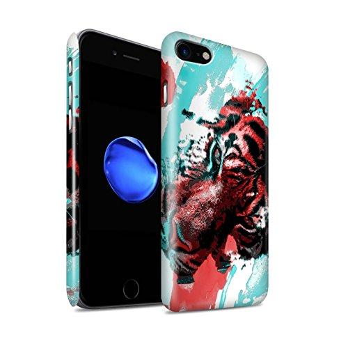Gloss telefoonhoesje voor Apple iPhone SE 2020 fragmenten Tijger schilderij ontwerp glanzend Ultra slank dun hard Snap Cover