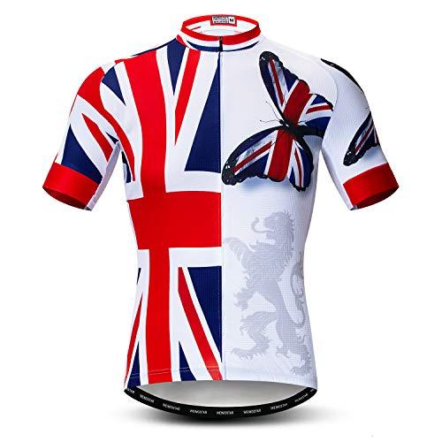 Weimostar Maglia da Ciclismo Abbigliamento da Bici da Uomo Maglia da Bicicletta Top Mountain Road MTB Jersey Camicia Manica Corta Abbigliamento Sportivo di Squadra XXL