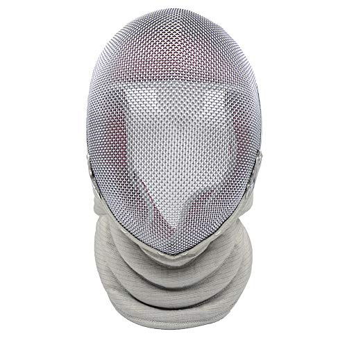 ThreeWOT Fencing Mask, Fencing Sabre Mask,350N CE Certification Fencing Sabre Protective Gear(Contain Storage Bag) (Medium, Detachable)