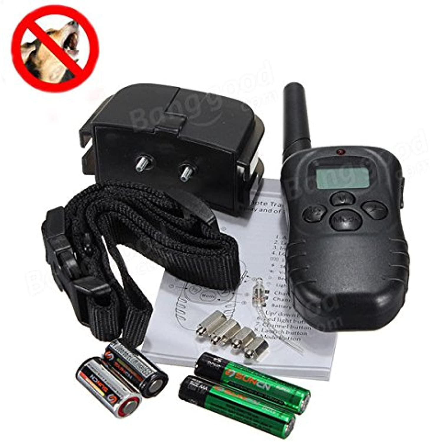 Hiquty LCD Display Remote Dog Training Stop Bark Collar 100 Levels