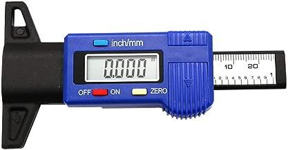 SODIAL Calibre de profundidad de banda de rodadura del neumatico digital Calibre de profundidad de banda de rodadura del neumatico LCD 0-25.4 mm Metrico pulgada