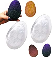 Tyoungg 2 Sets Dragon Egg Easter Egg 3D Dinosaur Egg Bath Bomb Mold Soap Mold Fizzies (acrylic)
