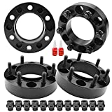 4 PCS 1.25 inch 6x5.5 Hub Centric Wheel Spacers with Extend Lug Nuts for Tacoma 4Runner Tundra Fortuner Ventury GX470 GX460, 1.25' Forged 6x139.7mm Wheel Spacer with 12x1.5 Studs & 106mm Center Bore