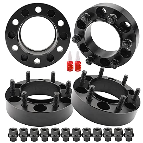 """4 PCS 1.25 inch 6x5.5 Hub Centric Wheel Spacers with Extend Lug Nuts for Tacoma 4Runner Tundra Fortuner Ventury GX470 GX460, 1.25"""" Forged 6x139.7mm Wheel Spacer with 12x1.5 Studs & 106mm Center Bore"""
