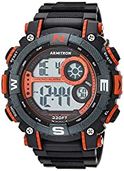 powerful Armitron Sport Men's 40/8284 RED Large Metallic Red Accent Black Resin Strap Chronograph Digital…