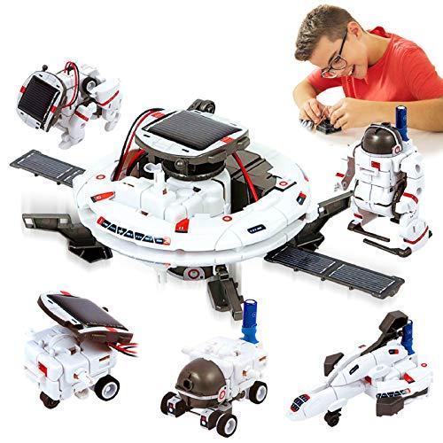 HOMOFY [2020 New Upgrade STEM Toys 6-in-1 Solar Robot Kit...