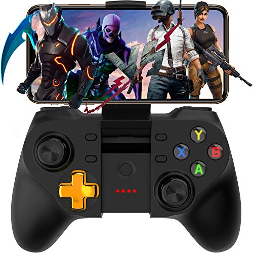 Megadream Mobile Game Controller for PUBG & COD, Wireless Key Mapping Shooting Fighting Racing Gamepad Joystick for iOS Android iPhone iPad Samsung Galaxy Other Phone - No Simulator Needed