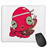 XZX2018 Novelty Octopus Eat Lobster Ramen 3D Printed Gaming Mouse Pad Rectangle Non-Slip Polyester Mouse Mat Vibrant Color Larger Size 10'x 12'x 0.12' Motivational Quotes for Work