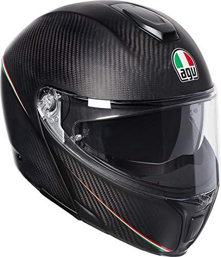 AGV Herren SPORTMODULAR Motorradhelm, Tricolore MATT Carbon/Italy, XS
