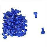 Sonline Terminales de cables 50pcs rapida Splice Conectores Lock Crimp electrica electrica - Azul