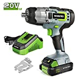 Best Cordless Impact Guns - WORKPRO 20V Cordless Impact Wrench, 1/2-inch, 320 Ft Review
