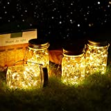 Vindany lámparas Solares Exterior - Juego de 4 Luz Solar Jardín Luces de Jardin Solares 30 LED Impermeable Interiores/Exteriores Decoración Lámpara para Jardín Balcón Terraza Fiesta