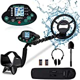 OMMO Metal Detector for Adults/Kids - High Sensitivity Waterproof Outdoor Metal Finder - Great Depth with 10 inch Search Coil, Backlit LCD, Discrimination Mode - Headphone Shovel Batteries Included - Best Reviews Guide