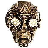 Ubauta Steam Punk Phantom Of The Opera Vintage Mechanical Men Venetian Mask For Masquerade/Party/Ball Prom/Halloween/Mardi Gras(Gold Punk Gas Mask)