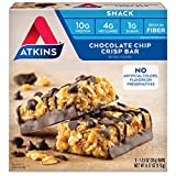 Atkins Snack Bar, Chocolate Chip Crisp, Keto Friendly, 6.17 Ounce (Pack of 1)
