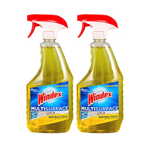Windex Economy Size Antibacterial Multi-Surface Cleaner, 32 oz-2 pack