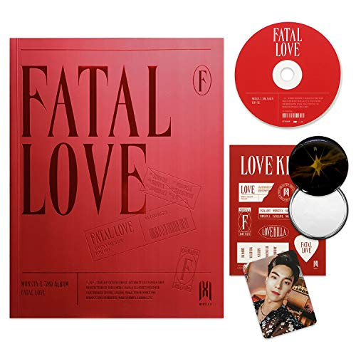 MONSTA X 3rd Album - FATAL LOVE [ Ver. 2 ] CD + Photo Book + Sticker + Photo Card + OFFICIAL POSTER + FREE GIFT / K-pop Sealed