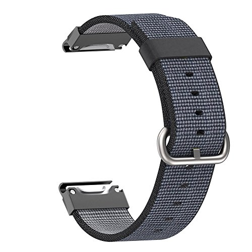 Espeedy Correa de reloj de repuesto pulsera de nylon tejida para Garmin Fenix 5 Forerunner 935 Approach S60