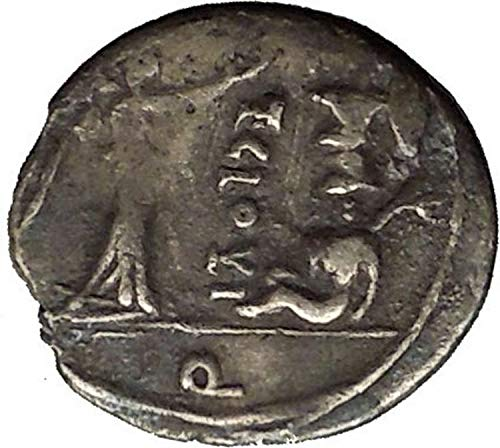 1000 IT Roman Republic 98BC Zeus Victory Trophy Ancient Q coin Good