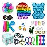 Zhiping Sensory Fidget Toys Juguetes antiestrés para foco y calma Fidget Pack fiesta Favor y juguete Set bola de estrés para niños adultos