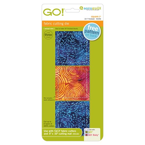 """AccuQuilt GO! Square – 3"""" (2.1/2"""" Finished)"""