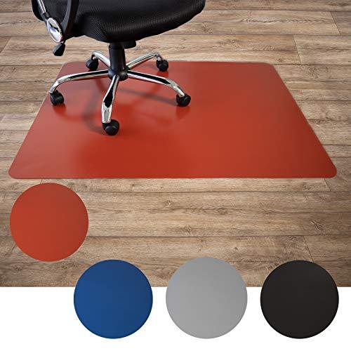 Floordirekt Bodenschutzmatte für Hartböden | aus Polypropylen| Buerostuhlunterlage | Stuhlunterlage | Schutzmatte | Hartboden | BUNT | 3 Größen (90 x 120 cm, Rot)