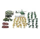 Black Temptation Toy Set Plastic Soldiers Gifts Mesa de Arena Modelo Toy Cars / Truck / Tank-58 PCS
