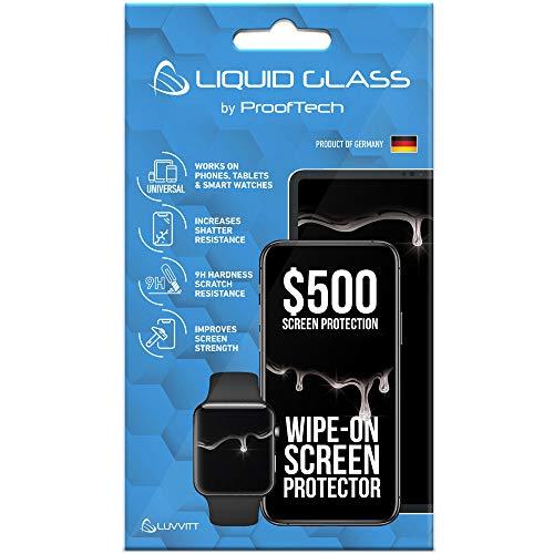 Pellicola proteggi schermo in vetro liquido con protezione 500 gradi, antigraffio, con rivestimento nano per tutti i telefoni Apple Samsung e altri tablet, Smart Watch, iPhone, iPad Galaxy universale