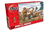 Airfix A00716 WWII US Marines Figures 1:72 Military Soldiers Plastic Model Kit, (Pack of 46)