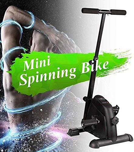 JHSHENGSHI - Bicicleta estática plegable magnética, vertical, reclinable, portátil, asiento ajustable, extra grande, barra multifunción para dominadas