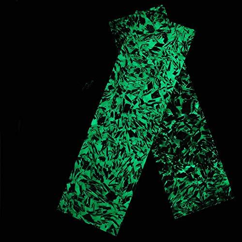 Aibote 1 Pair Marble Pattern Carbon Fiber Luminous Knife Handle Scales...