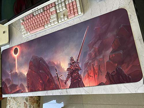 Gaming Mouse Pads Dark Souls 3 Mouse Pad Gaming Mousepad Anime Adorable Office Notbook Desk Mat Cool Padmouse Games Pc Gamer Mats C(40×90Cm)