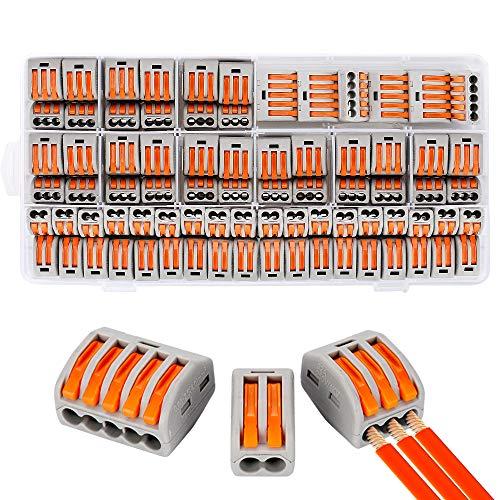 Kompakte Kabelverbinder, 100-teilige Kompaktspleißverbinder, Sortierleiter für Hebelmuttern, elektrische Steckverbinderblöcke