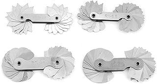 Yosoo Health Gear 4pcs Stainless Steel Radius Gauge, Sheet Metal Radius Gauge, Radius Gauge Metric, Fillet Gauge Concave C...