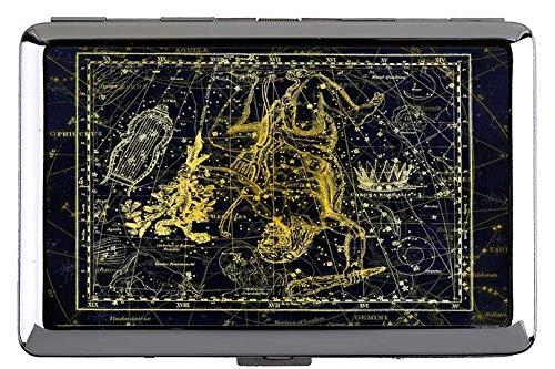 Hard Box Full Pack Zigarettenetui, Sternbild Sternbild Sternzeichen Themen aus Metall Tasche Visitenkartenetui