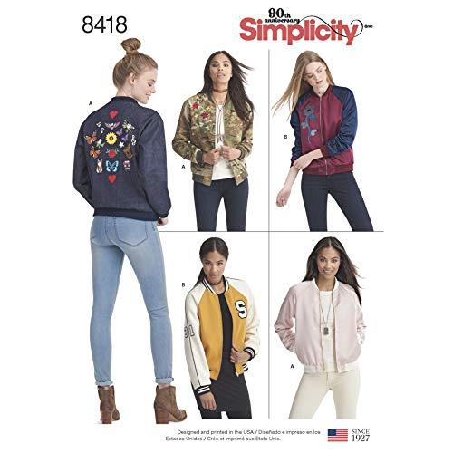 Simplicity 8418 Damen Schnittmuster Bomberjacken