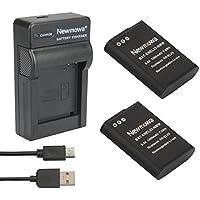 Newmowa EN-EL23 Reemplazo Batería (2-Pack) y Kit Cargador Micro USB portátil para Nikon EN-EL23 y Nikon Coolpix B700, P600, P610, P610s, P900, P900s, S810c